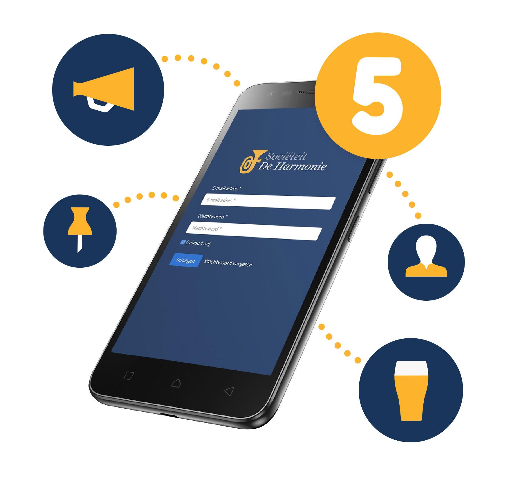 Portal voor vereniging en sociëteit - 3. Altijd op de hoogte